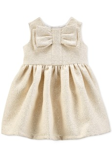 Carter's Baby Girls Metallic Bow Dress