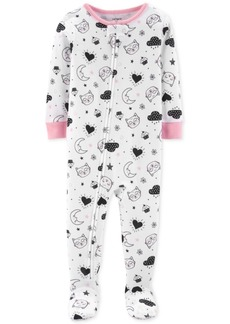 Carter's Baby Girls Printed Footed Pajamas