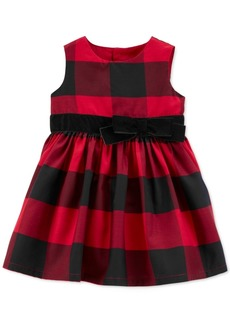 Carter's Baby Girls Sateen Buffalo Check Dress