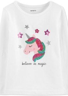 Carter's Baby Girls Sparkle Unicorn Cotton T-Shirt