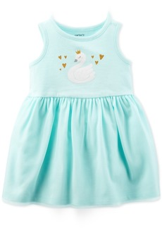 Carter's Baby Girls Swan-Print Sundress
