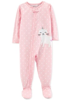 ae76bbb28 Carter's Carter's 1-Pc. Donut-Print Footed Pajamas, Little Girls (2 ...