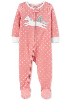 Carter's Baby Girls Unicorn Fleece Pajamas