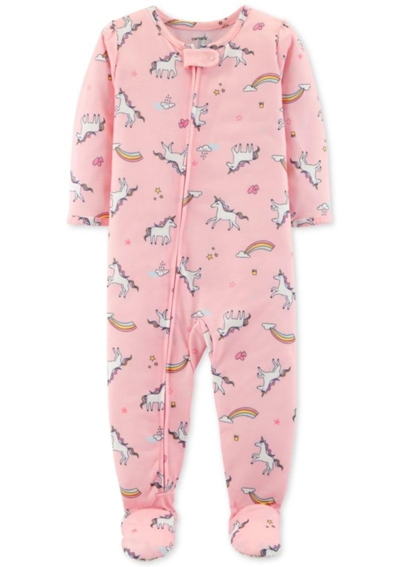 Carter s Carter s Baby Girls Unicorn-Print Footed Pajamas  9db38b160