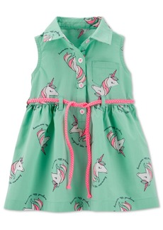 Carter's Baby Girls Unicorn-Print Shirtdress