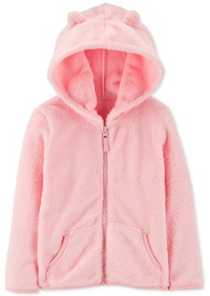 Carter's Baby Girls Velboa Faux-Fur Zip-Up Hoodie