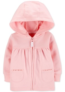 Carter's Baby Girls Zip-Up Cotton French Terry Hoodie