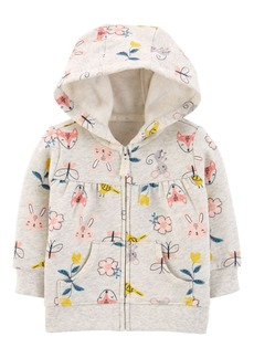 Carter's Baby Girls Zip-Up Fleece Hoodie