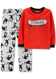 Carter's Big & Little Boys 2-Pc. The Morning Grind Skateboard Pajamas Set