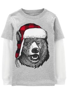 Carter's Toddler Boys Cotton Winter Bear Thermal T-Shirt