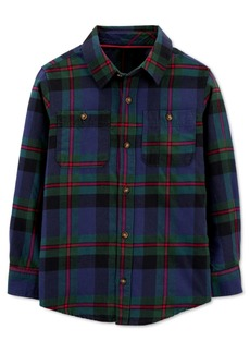 Carter's Big & Little Boys Cotton Plaid Button-Down Shirt