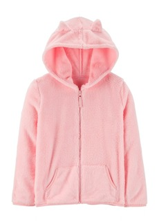 Carter's Big & Little Girls Ears Fuzzy Zip-Up Hoodie