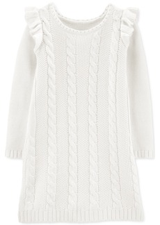 Carter's Big & Littler Girls Cable-Knit Sweater Dress