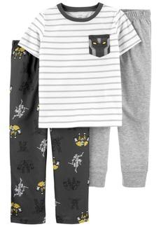 Carter's Big Boys 3-Pack Robot Loose Fit Pajama Set