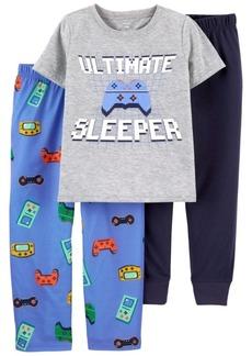 Carter's Big Boys 3 Piece Gamer Loose Fit Pajama Set