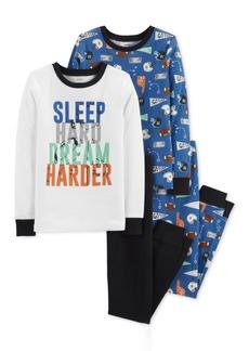 Carter's Big Boys 4-Pc. Dream Harder Cotton Pajama Set