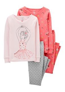 Carter's Big Girl 4-Piece Ballerina Snug Fit Cotton PJs