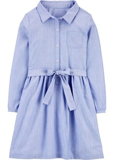 Carter's Big Girl Chambray Shirt Dress