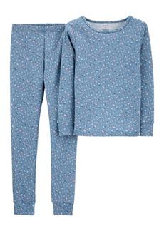 Carter's Big Girls 2 Piece Floral Snug Fit Pajama Set