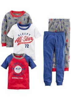 Carter's Boys' 5-Piece Cotton Snug-Fit Pajamas