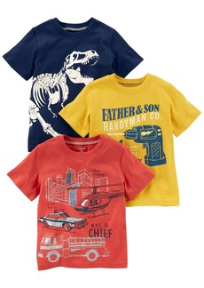 Carter's Boys' Toddler 3-Pack Short-Sleeve Graphic Tee