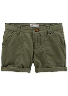 Carter's Cotton Twill Rolled Cuff Shorts, Little Girls & Big Girls
