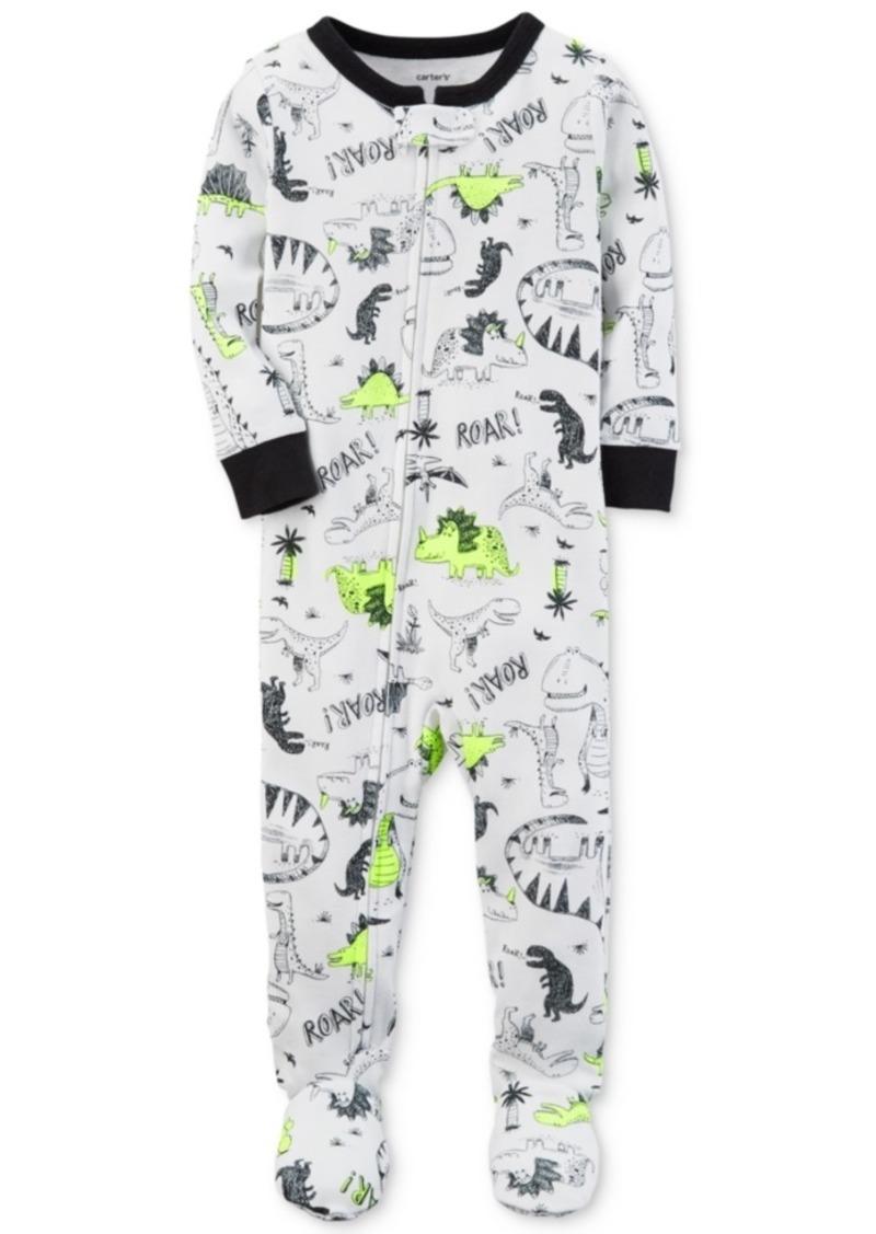 52744e6fd665 Carter s Carter s Dino-Print Footed Cotton Pajamas