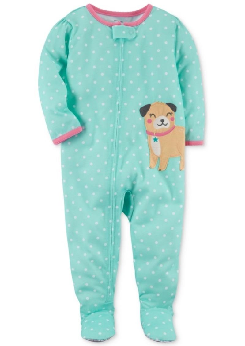 555425c88 Carter s Carter s Dog Dot-Print Footed Cotton Pajamas