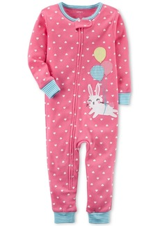 Carter's Dot-Print Bunny Cotton Pajamas, Baby Girls