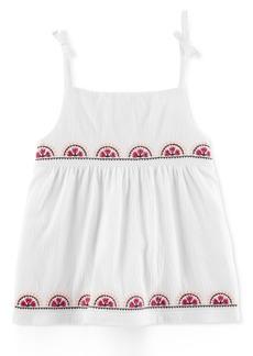 Carter's Embroidered Tie-Shoulder Tank Top, Little & Big Girls