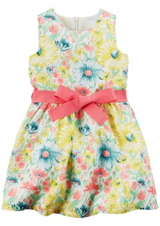 Carter's Floral Dress Yellow Floral T