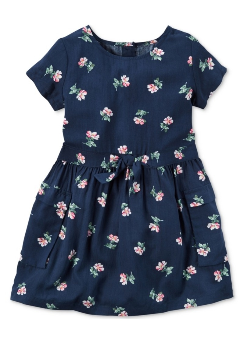 d815f910d Carter's Carter's Floral-Print Pocket Dress, Little Girls (4-6X ...
