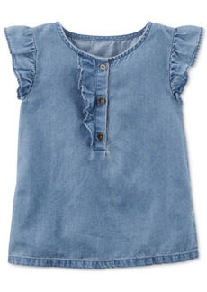 Carter's Flutter-Sleeve Denim Top, Toddler Girls