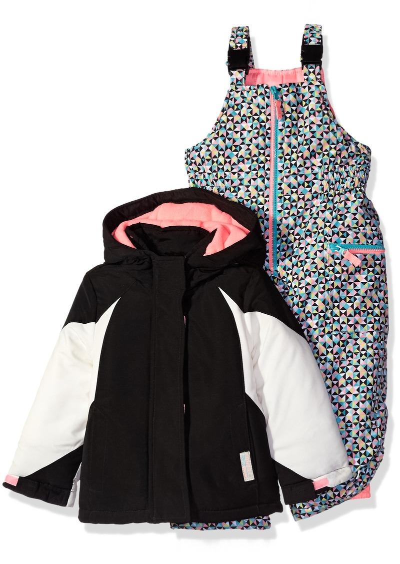 46a47f08a56 Carter's Little Girls' Color Block Active 2 Pc Snowsuit with Print Pant
