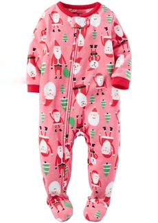 Carter's Girls' Toddler 1 Piece Fleece Sleepwear