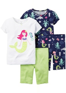 Carter's Girls' Toddler 4 Piece Cotton Sleepwear