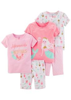 Carter's Girls' Toddler 5-Piece Cotton Snug-Fit Pajamas