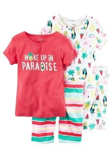 Carter's Girls' Toddler  Piece Cotton Sleepwear