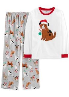 Carter's Little & Big 2-Pc. Boys Holiday Dog Pajamas