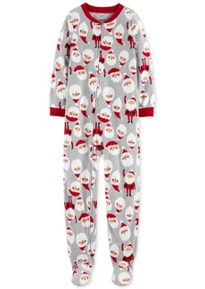 Carter's Little & Big Boys 1-Pc. Fleece Footed Santa Pajama