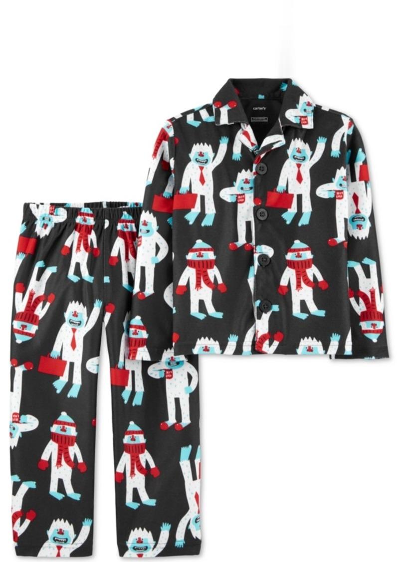 Carter's Little & Big Boys 2-Pc. Abominable Snowman Fleece Pajamas Set