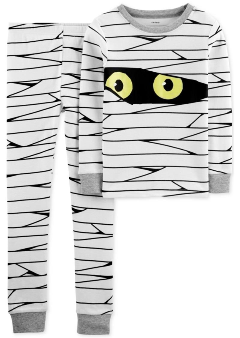 Carter's Little & Big Boys 2-Pc. Cotton Glow-In-The-Dark Mummy Pajama Set