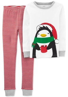 Carter's Little & Big Boys 2-Pc. Cotton Holiday Penguins Pajamas Set