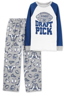 Carter's Little & Big Boys 2-Pc. Draft Pick Pajama Set