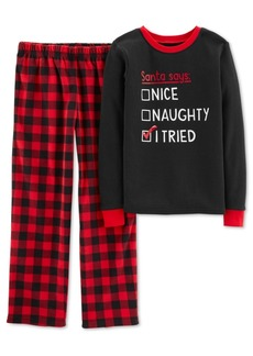 Carter's Little & Big Boys 2-Pc. Plaid Pajama Set