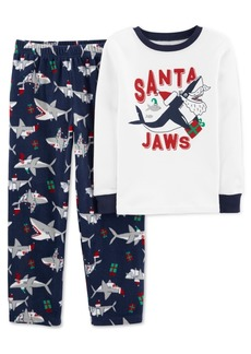 Carter's Little & Big Boys 2-Pc. Santa Jaws Pajamas Set
