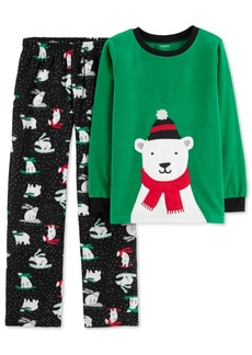 Carter's Little & Big Boys 2-Pc. Sledding Bear Pajamas