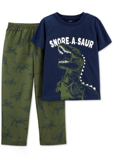 Carter's Little & Big Boys 2-Pc. Snore-a-Saur Dinosaur Pajama Set