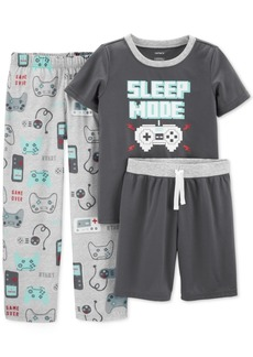 Carter's Little & Big Boys 3-Pc. Sleep Mode Pajamas Set