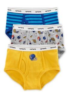 Carter's Little & Big Boys 3-Pk. Sports & Stripes Cotton Briefs